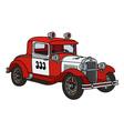 Vintage fire patrol car vector image