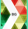 abstract colorful triangle repetition vector image