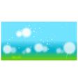Dandelion With Seeds Flying Away vector image vector image