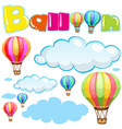 balloons and clouds in sky vector image vector image