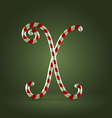 Candy cane abc x vector
