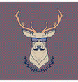 hand drawn colorful of hipster deer with mus vector image