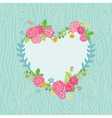 Beautiful Card with Floral Heart Wreath vector image vector image