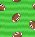 Footballs on field seamless pattern vector image