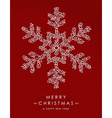 Merry christmas happy new year outline snow deco vector image
