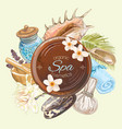 Spa round banner vector image