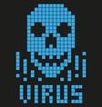 skull Virus 8 Bit vector image