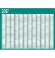 calendar simple flat design 2017 vector image