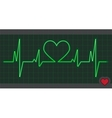 Cardiogram heart love vector image