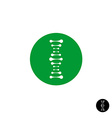 DNA simple science logo with metaball style vector image