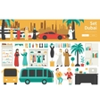Dubai Big Collection in flat design concept vector image