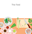 Ingredients Of Thai Soup Tom Yum Kung vector image