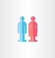 man and woman toilet symbols vector image