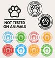 No animals testing sign icon vector image