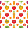 pattern with cute vegetables vector image
