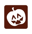 pumpkin halloween card icon vector image