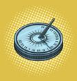 vintage sundial pop art style vector image