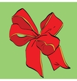 Red festive bow sash vector image vector image