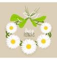 Meadow flower wreath vector image