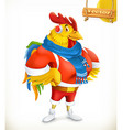 Rooster Animal 2017 New Year mascot East calendar vector image vector image
