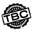 tbc rubber stamp vector image