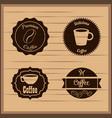 coffee badge labels emblem vector image