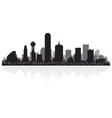 Dallas USA city skyline silhouette vector image