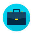 business briefcase flat circle icon vector image