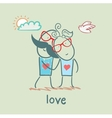 girl and boy in love vector image vector image