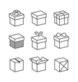 Gift Box Icons Holiday Presents vector image