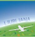 Ljubljana flight destination vector image