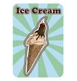 Vintage retro posterof a hand drawn ice cream vector image