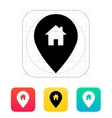 Map pin with home icon vector image