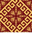 Seamless golden Greek ornament vector image