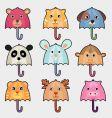 animal umbrella vector image vector image