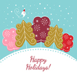 Happy holidays christmas card vector