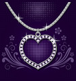 Platinum necklace with brilliants vector image