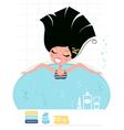 beauty bath vector image vector image