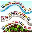 train pattern toy vector image