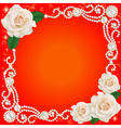 background with jewelry and wedding flower vector image