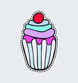colorful cupcake in patch style clip art for vector image