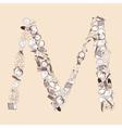 M School alphabet letter vector image