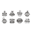 Pizza set logo label element Pizzeria vector image