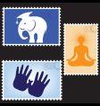 postmarks vector image