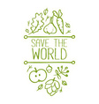 Save the World Banner vector image