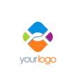 square letter x color logo vector image