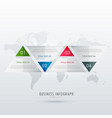 triangle style infographic timeline design vector image