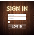 Web Login Form Template vector image