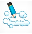 Pencil and cloud speech vector image vector image