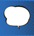 speech bubble on blue retro background vector image